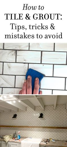 Color for the subway tile grout! New Laundry Room: Subway Tile & Grout - Tips & Tricks Kitchen Redo, Kitchen Remodel, Kitchen Design, Kitchen Ideas, Kitchen Inspiration, Kitchen Backsplash, Kitchen Island, Home Improvement Projects, Home Projects