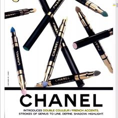 Chanel Duo French Accents Eye Shadow - Mercari: Anyone can buy & sell Chanel Print, Chanel Designer, Makeup Eyeshadow, Makeup Ads, Eyeliner, Chanel Makeup, Vintage Chanel, Covergirl, Fashion Advice