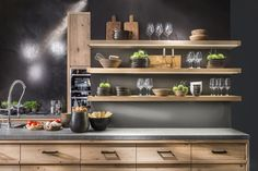 Great colours and I like the floating shelves Slots Decoration, Bath And Beyond Coupon, How To Cook Steak, Dinners For Kids, Kitchen Dining, Kitchen Shelves, Floating Shelves, Liquor Cabinet, Sweet Home