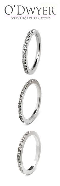 Wedding Bands - 18ct white gold wedding bands with diamonds. Förlovningsring Vigselring