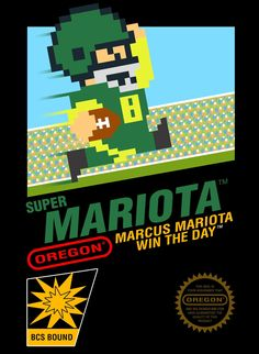 'Super Mariota' - Marcus Mariota  Oregon Ducks Football, Win The Day GO DUCKS from WildKingdumb.com