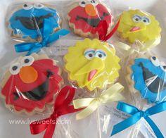 sesame street cookie-pops, via Flickr.