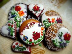 Amazing cake with traditional Hungarian floral design