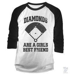 Diamonds Are A Girls Best Friend Baseball Shirt