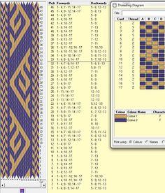 17 tarjetas, 2 colores, repite cada 32 movimientos // sed_269 diseñado en GTT༺❁