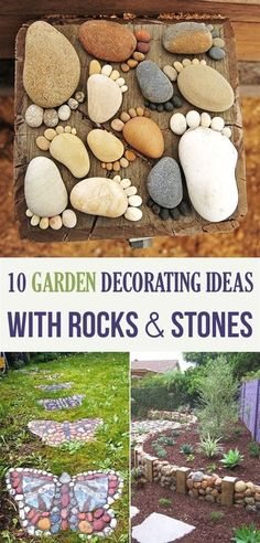 Use rocks and stones to create useful and artful accents for your garden! #GardeningDecoration