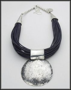 AMORE  Multistrand Navy Leather Cord  by sandrawebsterjewelry, $180.00