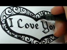 I Love You Letters - How To Write Fancy Letters And Heart - I Love You Letters