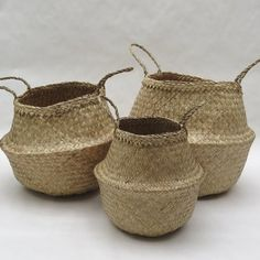 Seagrass baskets, in three sizes, from Foraged Home