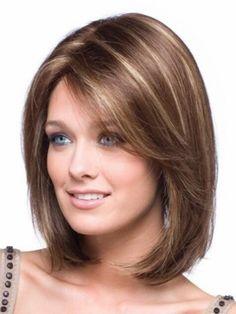 Hair Cuts For Round Faces Shoulder Length Haircuts Ideas Trendy Haircut, Haircuts For Wavy Hair, Round Face Haircuts, Long Hair With Bangs, Short Haircut, Long Hair Cuts, Cool Hairstyles, Shoulder Length Hair Styles For Women, Cute Shoulder Length Haircuts