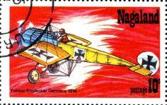 Stamp: Fokker Eindecker Germany 1916 (Cinderellas) (Nagaland) Col:ND 1978-01/4