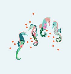 Seahorse experiments with pattern, texture and colour