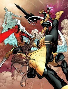 Kitty Pryde & the original X-Men by Stuart Immonen