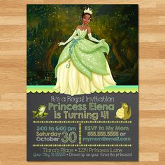 Printable Personalized Princess and the Frog Invitation This adorable Personalized Princess and the Frog Invitation is the perfect way to invite guests to your little ones birthday party! ===================== Whats Included? ===================== * 1 High Resolution JPEG or