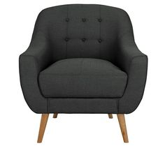 Buy Hygena Lexie Fabric Retro Chair - Charcoal at Argos.