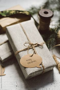 Get in the holiday spirit! As you're buying gifts, add a personal touch with Unique 50 Christmas gift wrapping ideas! Upcycled Kraft Paper Gift Wrapping Ideas From: The Found and The Fancy How to P… Christmas Chalkboard, Merry Christmas Card, Unique Christmas Gifts, Christmas Gift Wrapping, Christmas Presents, Holiday Gifts, Christmas Diy, Christmas Decorations, Natural Christmas
