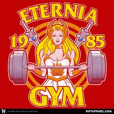 She-Ra T-Shirt by JozVoz. This Eternia Gym t-shirt features the mighty She-Ra: Princess of Power from Masters of the Universe. He Man Tattoo, She Ra Costume, 80s Cartoon Shows, She Ra Princess Of Power, Gym Design, Thundercats, Geek Chic, Wonder Woman, Retro