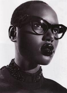 Ajak Deng-glasses Vogue Spain/Fall/Winter 2011