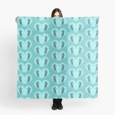 """""""Giraffes in a blue heart """" Scarf by Mandsred1 