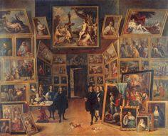 David Teniers d. J.  Galerie des Erzherzogs Leopold Wilhelm in Brüssel. 2. Drittel 17. Jh., Öl auf Leinwand, 106 × 129 cm. Madrid, Museo del Prado. Niederlande (Flandern). Barock.  KO 00890