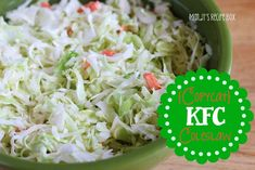 Copycat KFC coleslaw at http://therecipecritic.com  Tastes just like the real thing and makes an excellent side to any meal!!