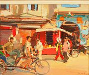 """Pictures of the Luke Martineau 2011 - """"India: paintings from a Royal Tour"""" exhibition at the Panter & Hall Gallery"""