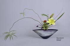 Ikebana ikenobo flower arrangement rikka shimputai by Jennie Lim. Indonesia