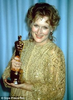 Golden girl: Meryl Streep has won the Best Actress Oscar twice, for her role in The Iron Lady (2011) and Sophie's Choice (1982)