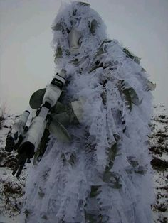 Ghost Soldier white snow ghillie suit