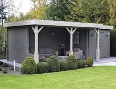 Shed Plans - Abri de jardin : grand et moderne. - Now You Can Build ANY Shed In A Weekend Even If You've Zero Woodworking Experience! Garden Bar, Garden Studio, Summer House Garden, Shed Design, Garden Design, Back Gardens, Outdoor Gardens, Outdoor Rooms, Outdoor Living