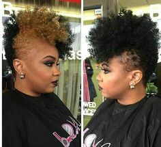 This look here, this right here, THIS IS HOT! If only I were so bold, hell I might be. Natural Short Cuts, Natural Hair Cuts, Be Natural, Short Hair Cuts, Natural Hair Styles, Dope Hairstyles, My Hairstyle, Love Hair, Gorgeous Hair