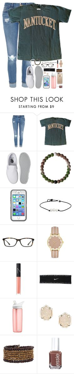 """""""greys anatomy makes me think I can successfully do heart surgery"""" by kaley-ii ❤ liked on Polyvore featuring River Island, Vans, GlassesUSA, Kate Spade, NARS Cosmetics, NIKE, CamelBak, Kendra Scott, Cocobelle and Essie"""