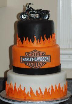 Torta Harley Davidson, Harley Davidson Birthday, Motos Harley Davidson, Beautiful Cakes, Amazing Cakes, Motorcycle Cake, Retirement Cakes, Cupcake Cookies, Cupcakes