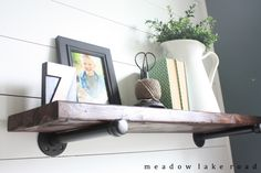 Industrial Pipe Shelves for the Office - Meadow Lake Road