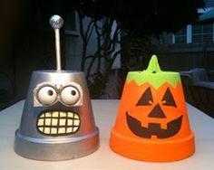 EcoNotas.com: Macetas Recicladas para Halloween, Decoracion