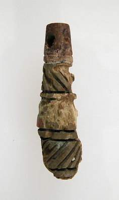 Cylindrical Pendant, 6th-7th centuries, made in Niederbreisig, Frankish, Bone; Dimensions: Overall: 1 5/16 x 3/8 in. (3.3 x 1 cm)