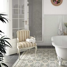 Equipe Caprice Chatelet Border 20 x 20 cm Ceramic Floor Tiles, Bathroom Floor Tiles, Wall And Floor Tiles, Wall Tiles, Tiled Bathrooms, Flooring Tiles, Shower Tiles, Porcelain Tiles, Shower Floor
