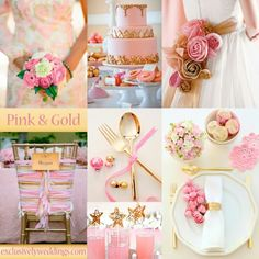 Pink and Gold Wedding motif. Lovely! ♥