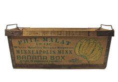 Vintage Banana Crate / Vintage Banana Box