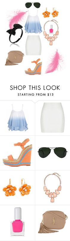 """""""190"""" by agnesmocsai on Polyvore featuring Christian Louboutin, Ray-Ban, Mixit, Kendra Scott, tenoverten and Yves Saint Laurent"""