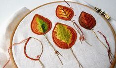November theme - Stumpwork      I used the autumn leaves I made for Septembers needlequest for the back ground for November's Stumpwork.    ...