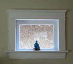 Trim basement windows.                                                                                                                                                                                 More