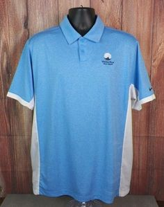 Nike Golf Dri Fit Tour Performance Short Sleeve Polo Shirt Mens Size L Blue #3 #NikeGolf #PoloRugby
