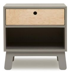 3b382f4597baa3 Oeuf Sparrow Night Stand - Grey - modern clean lines  DiaperscomNursery  Décoration Chambre, Chambre