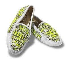 Tod's stone-studded slippers