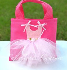 Items similar to Small Size Ballerina Tutu Tote Gift Bag - B.- Items similar to Small Size Ballerina Tutu Tote Gift Bag – Ballet Party Favor on Etsy Ballerina Tutu Tote Gift Bag Ballet Party by FairyTotesCouture - Ballerina Tutu, Ballet Tutu, Ballerina Birthday Parties, Fabric Bags, Kids Bags, Felt Crafts, Gifts For Kids, Purses And Bags, Sewing Projects