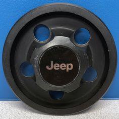 ONE 84-02 Jeep Cherokee Wrangler Comanche Steel Wheel # 1403 Black Center Cap