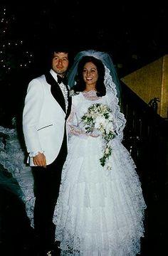Wayne and kathy's wedding day