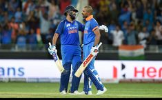 PHOTOS: Rohit, Dhawan hit tons as India crush Pakistan. Centuries from openers Rohit Sharma and Shikhar Dhawan helped India crush Pakistan by nine wickets in the Super Four match of the Asia Cup in Dubai on Sunday. Super Four, Super 4, Asia Cup 2018, India Vs Pakistan, India Cricket Team, Shikhar Dhawan, Blue Army, Match Highlights, Mumbai Indians