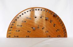 Wooden, handmade, French perpetual calendar